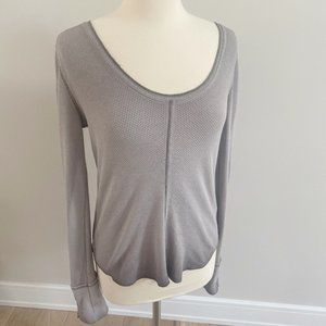 Free People Long Sleeve Button Detail Thermal LG